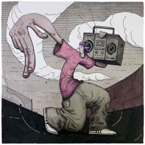 Radio. acuarela y tinta sobre papel
