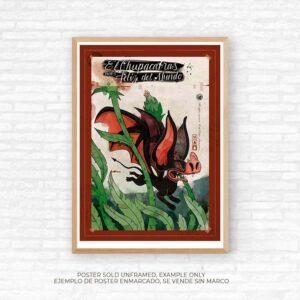 poster 50 x 70cm chupacabras, Edu Rubio